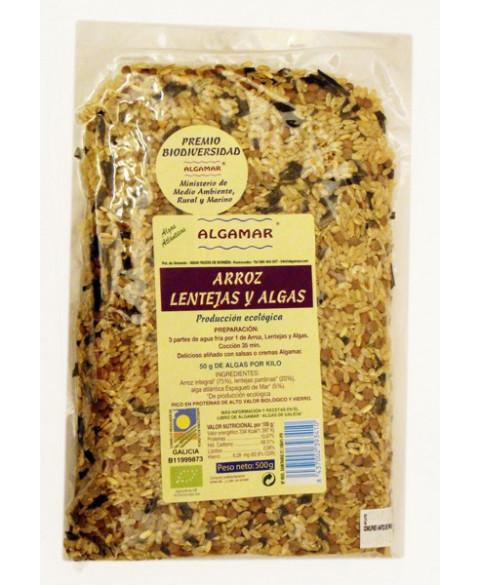 Arroz de Lentejas y Algas de Algamar 500 Gr Bio