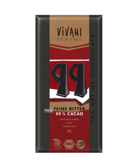 CHOCOLATE VIVANI 99% CON AZUCAR COCO 80GR BIO