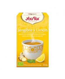 Yogi Tea Jengibre y limón 17 ud Bio