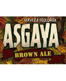 CERVEZA ASGAYA BROWN ALE 33CL BIO