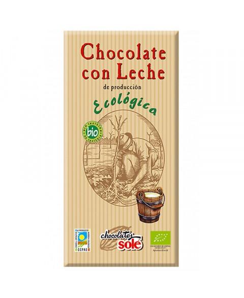 CHOCOLATE CON LECHE 100 GR BIO