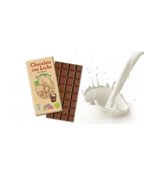 CHOCOLATE CON LECHE 25GR BIO