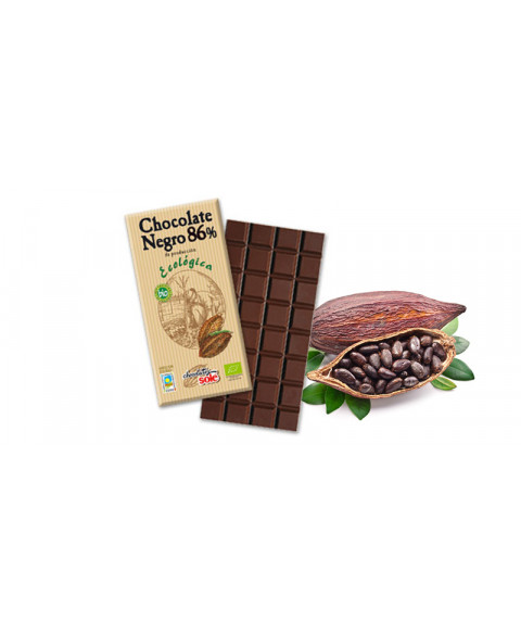 CHOCOLATE NEGRO 86% 100GR BIO