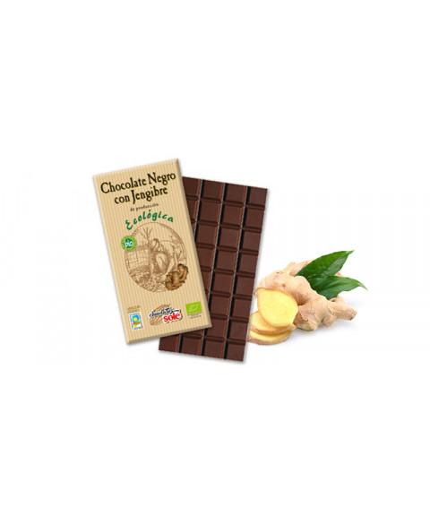 CHOCOLATE NEGRO CON JENGIBRE 100GR BIO