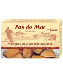 MEJILLONES ESCABECHE PAN DO MAR 115 GR BIO