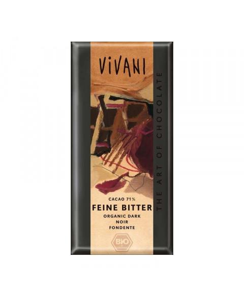 CHOCOLATE VIVANI NEGRO 71% 100GR BIO