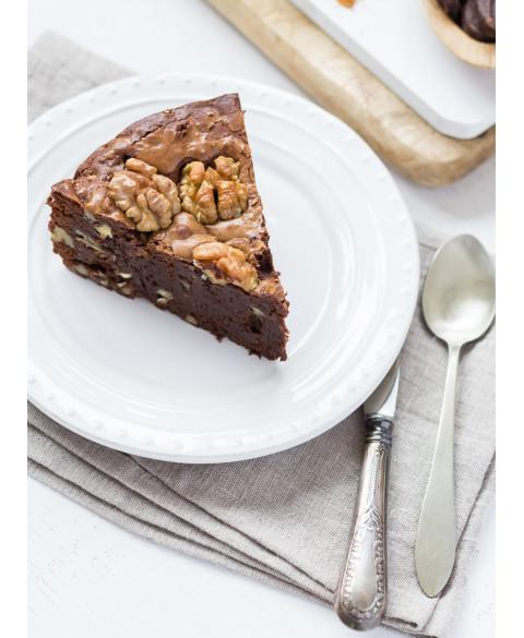 Brownie chocolate, avellana y nuez de Alma avellana Bio