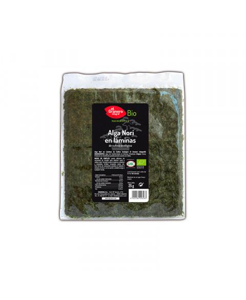 Alga Nori en láminas El Granero 25 gr Bio