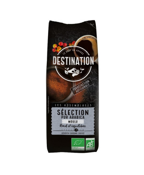 Café natural molido seleccion 100% arábica 250 gr Bio Destination