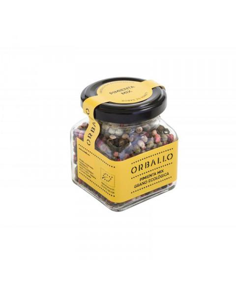 Mix pimientas en grano 60 gr Bio Orballo