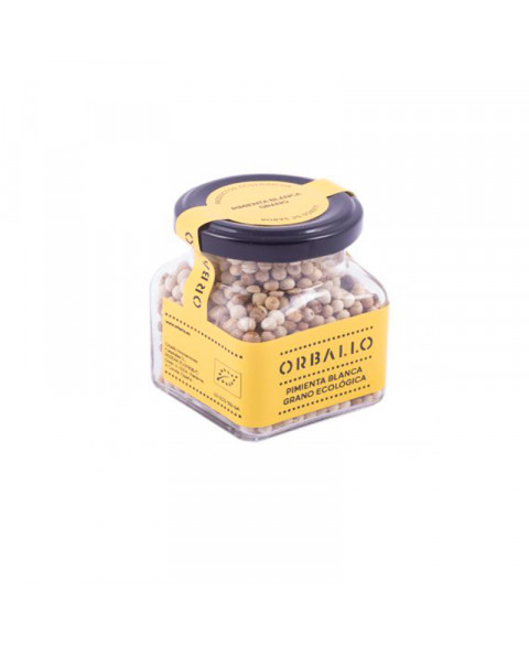 Pimienta blanca en grano 75 gr Bio Orballo