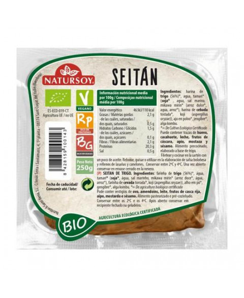 Seitan de trigo Natursoy 250 gr Bio