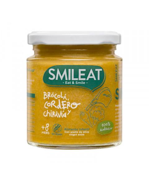 Potito de brócoli, cordeor y chirivia Smileat 230 gr Bio
