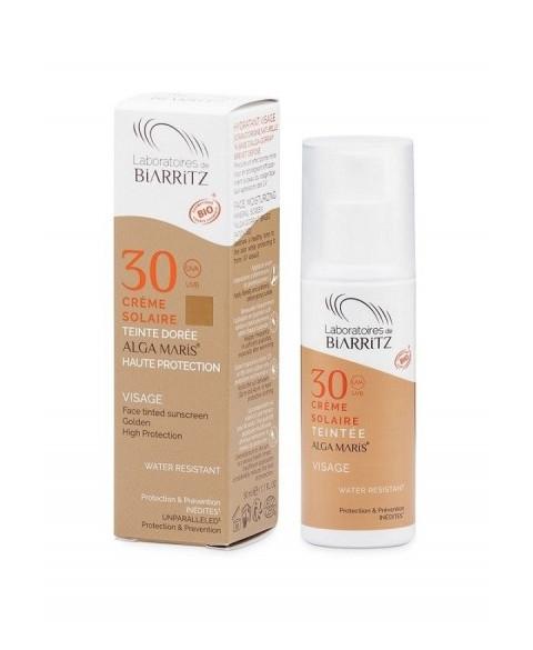 Crema solar facial color Golden Alga Maris SFP30 50 ml Bio