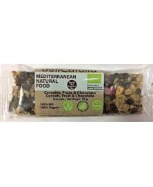 Barrita de Cereales, Fruta y Chocolate de Delicatalia 50 Gr Bio
