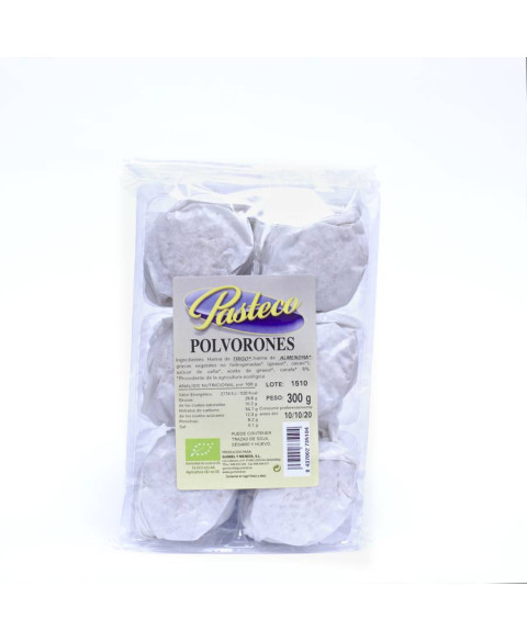 Polvorones Blancos Pasteco 300 Gr Bio