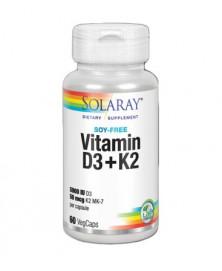 VITAMIN D3 + K2 60 CAPSULAS SOLARAY