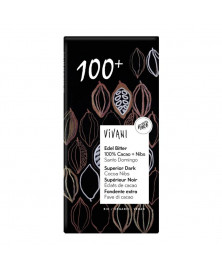 CHOCOLATE 100% CACAO CON NIBS VIVANI 80GR BIO