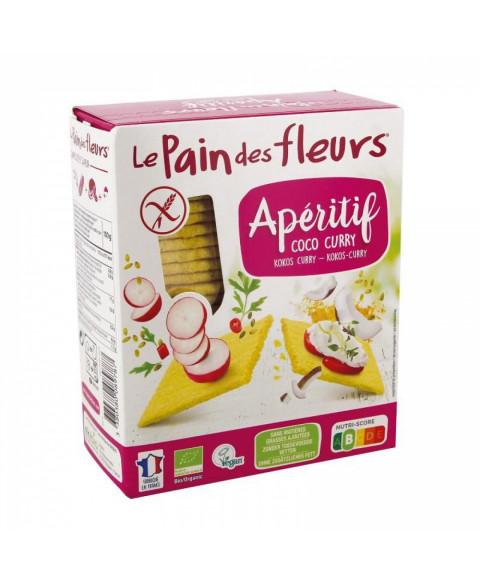 Aperitivo de Coco y Curry Sin Gluten de Le Pain des Fleurs 150 Gr Bio