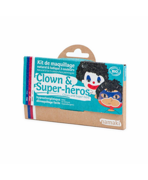 KIT MAQUILLAJE PAYASO SUPERHEROE