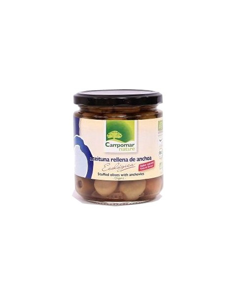 Aceitunas Rellenas de Anchoa de Campomar Nature 350 Gr Bio