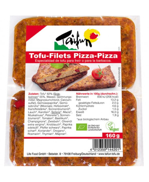 FILETES TOFU PIZZA-PIZZA 160GR BIO