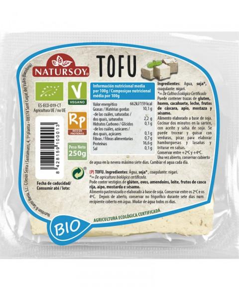 Tofu natural Natursoy 250 gr Bio