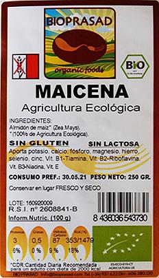 etiqueta maicena 250gr sin gluten bioprasad