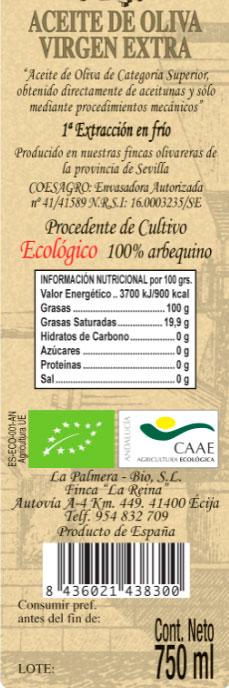 aceite de oliva olae etiqueta