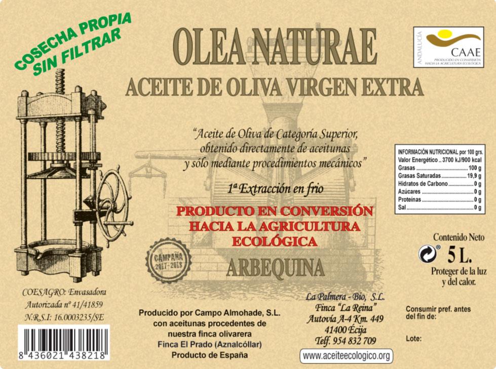 aceite de oliva virgen 5 litros etiqueta