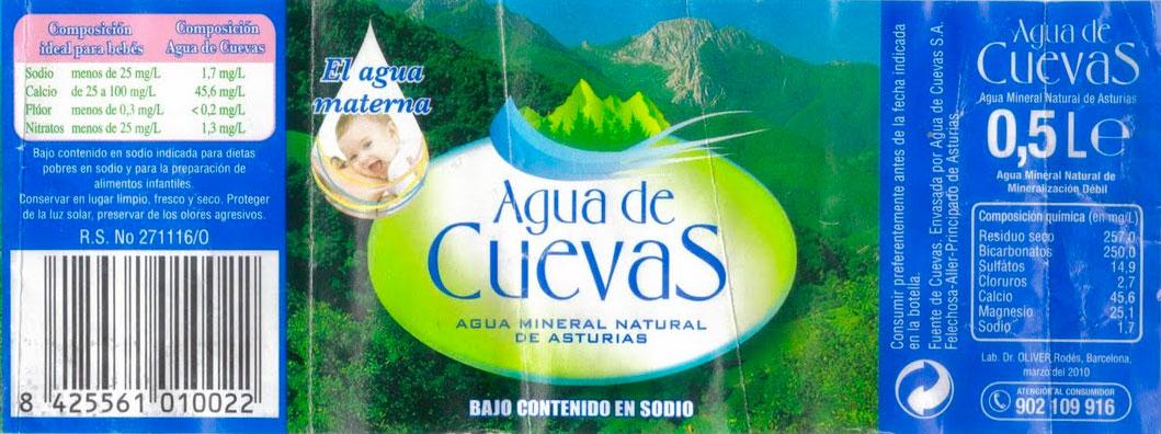 agua de cuevas 500ml