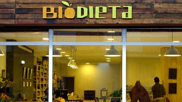 Biodieta, entrada a la tienda