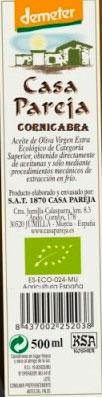 casa pareja etiqueta aceite de oliva 500ml