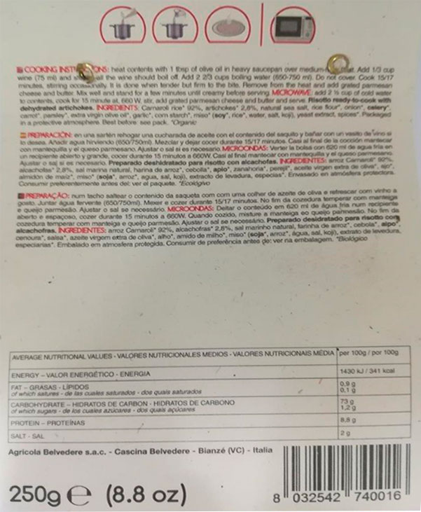 cascina de belvedere risotto con alcachofas 250