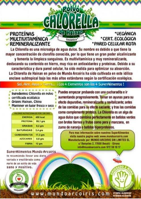 CHLORELLA MUNDO ARCO IRIS