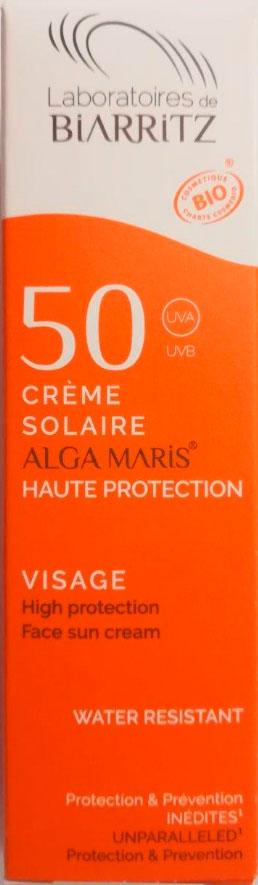 crema facial proteccion 50