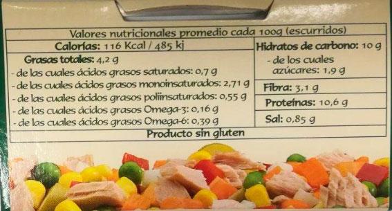 ensalada de verduras con atun pan do mar
