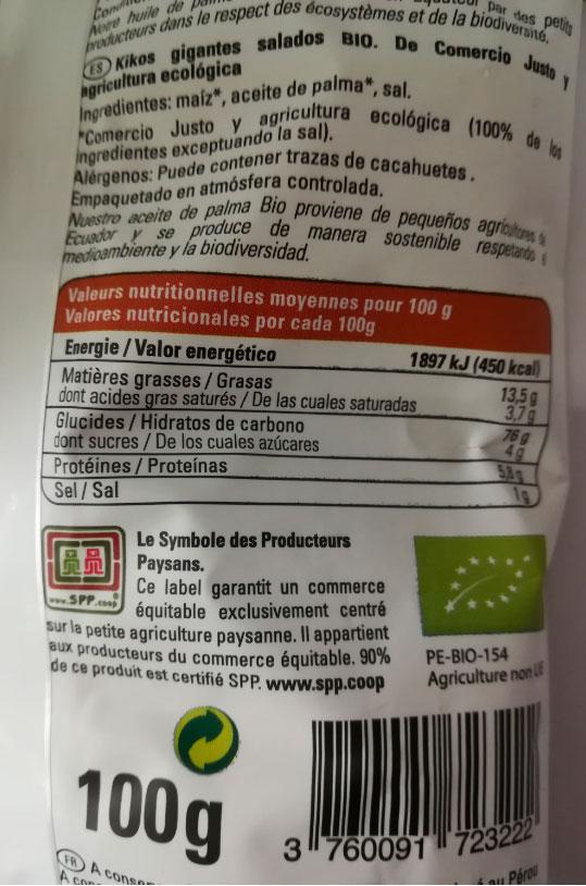 ethiquable kikos salados 100 gr