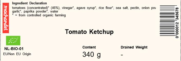 ketchup machandel etiqueta