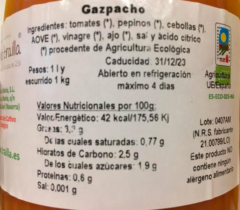 gazpacho la trailla etiqueta