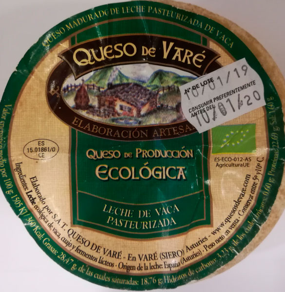 queso de vaca pasteurizada vare