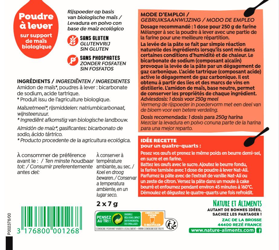 levadura etiqueta 50 gr bio