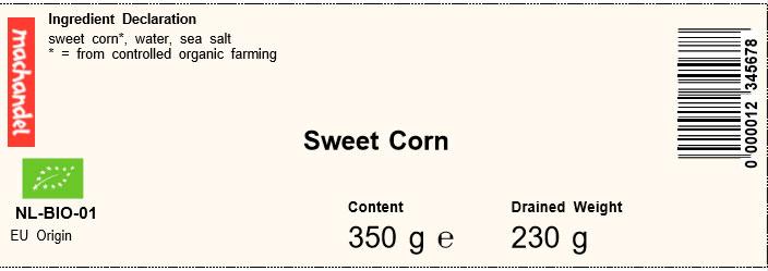 maiz dulce machandel etiqueta