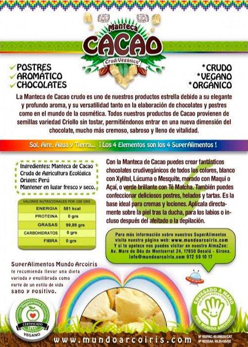 manteca de cacao mundo arcoiris etiquet