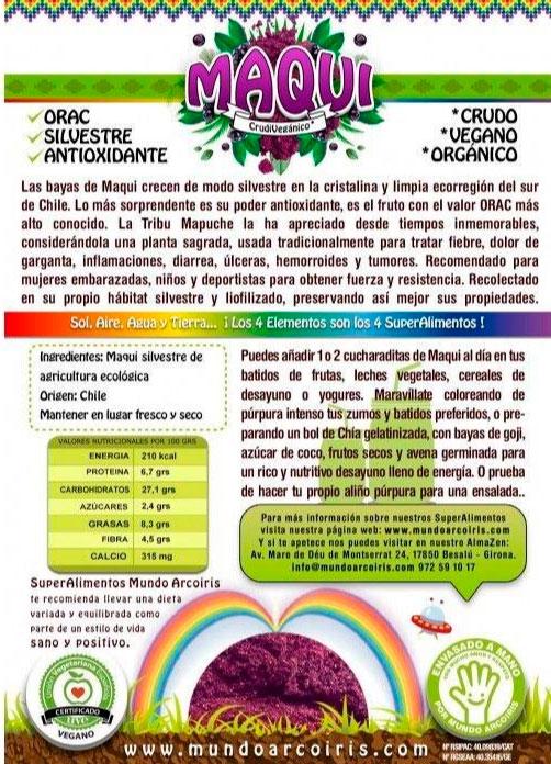 maqui berry etiqueta