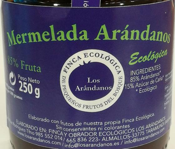 mermelada de arandanos etiqueta