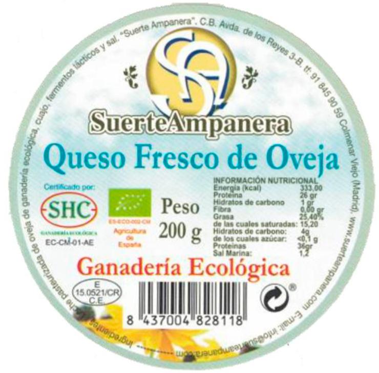 queso fresco de oveja suerteampanera etiqueta