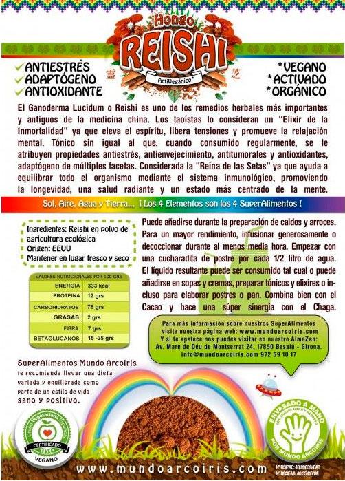 reishi mundo arcoiris etiqueta