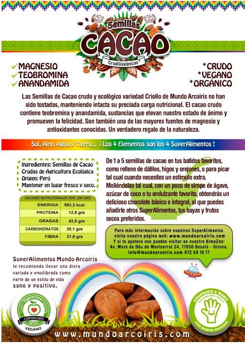 semillas de cacao mundo arcoiris