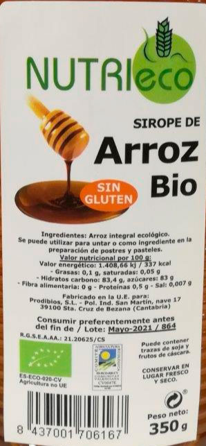 SIROPE DE ARROZ NUTRIECO